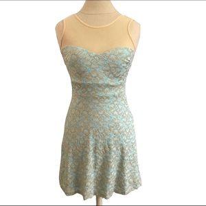 Windsor Floaty Dress Gold & Mint
